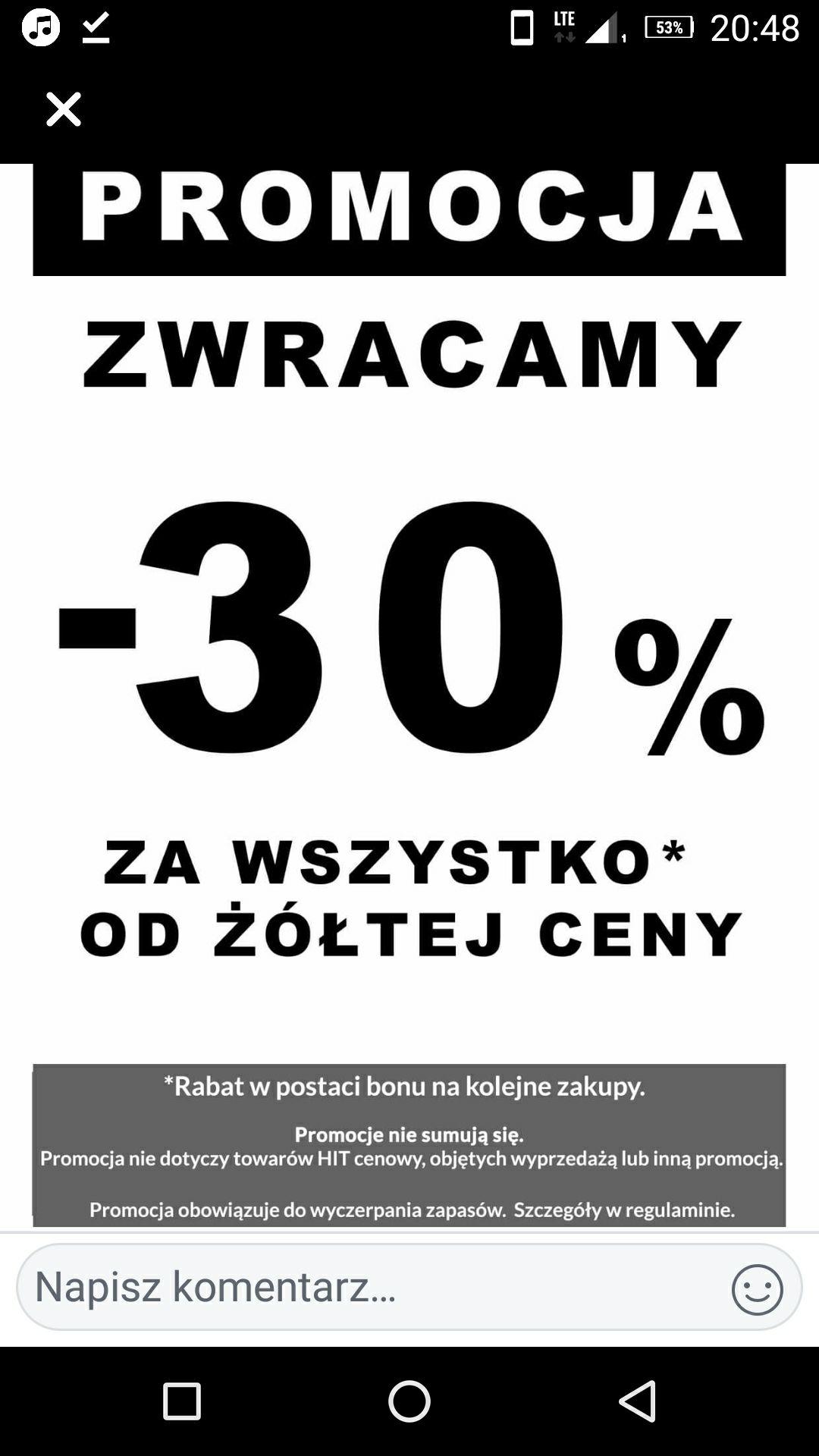 Majster Wadowice zwrot 30% w formie bonu  na kolejne zakupy