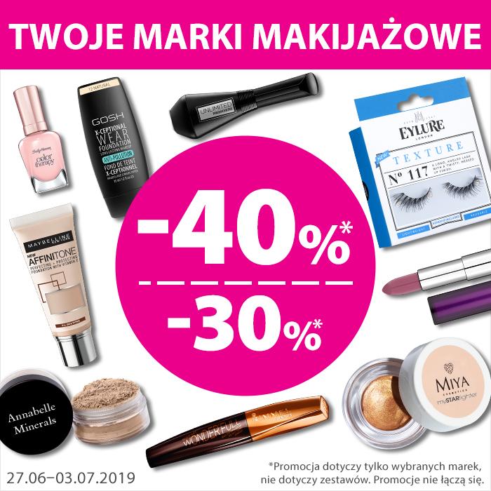-40% na wybrane marki makijażowe @ Hebe