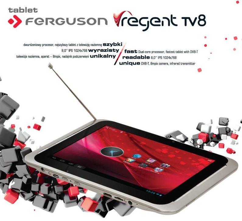 TABLET Ferguson Regent TV8 DVB-T IPS, 8Mpix + 2Mpix, HDMI, BT