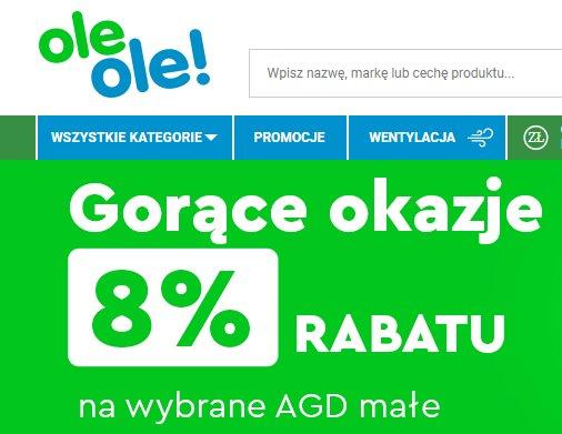 Rabat 8% na małe AGD od OleOle