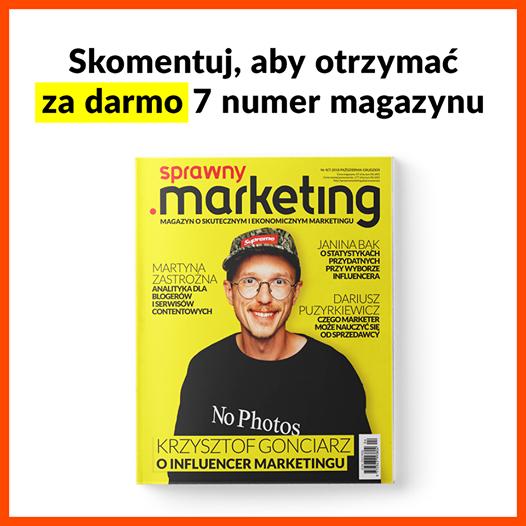 Darmowy 7 numer magazynu Sprawny Marketing za skomentowanie pod postem