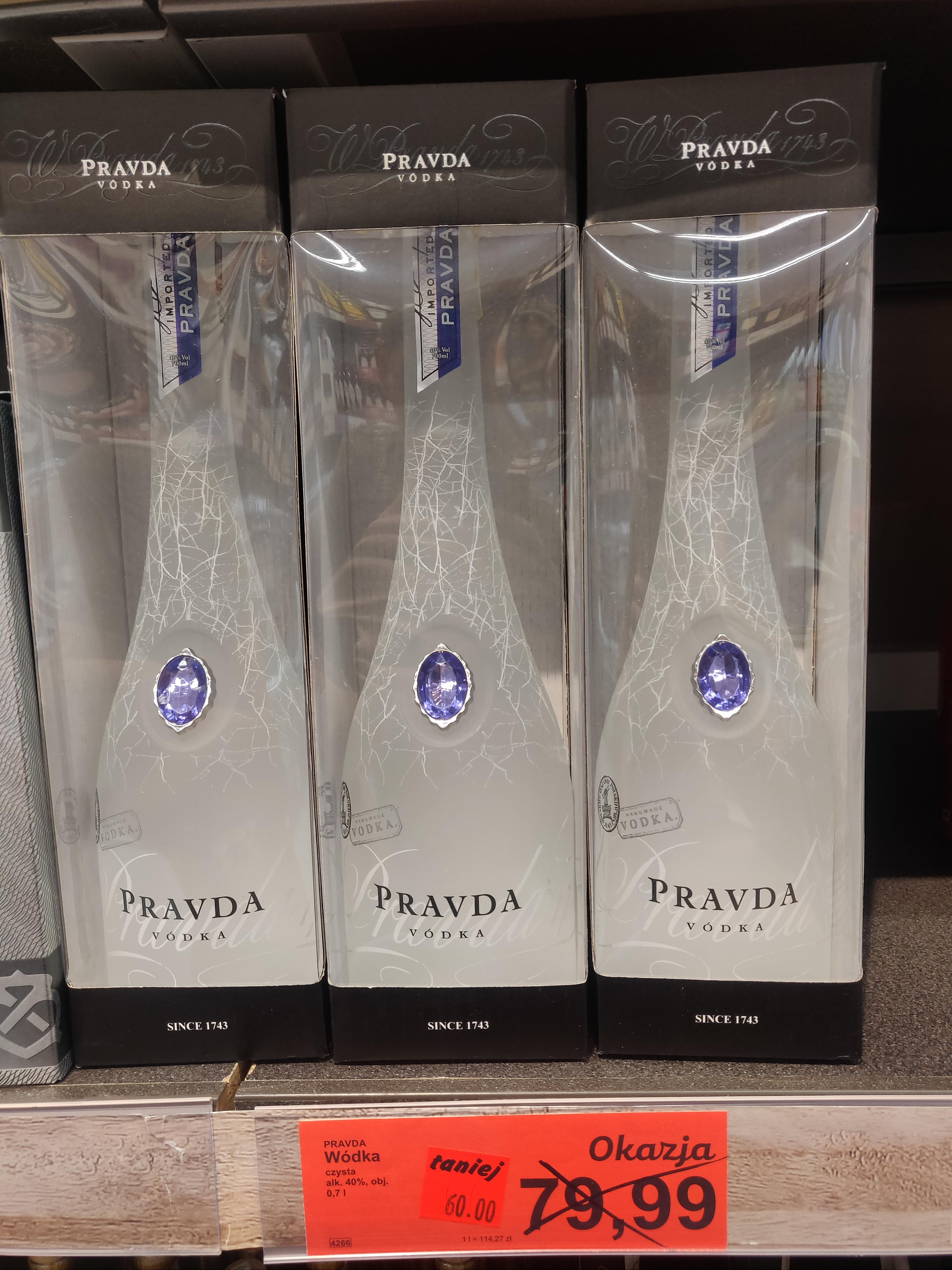 PRAVDA wódka 0.7 ALDI