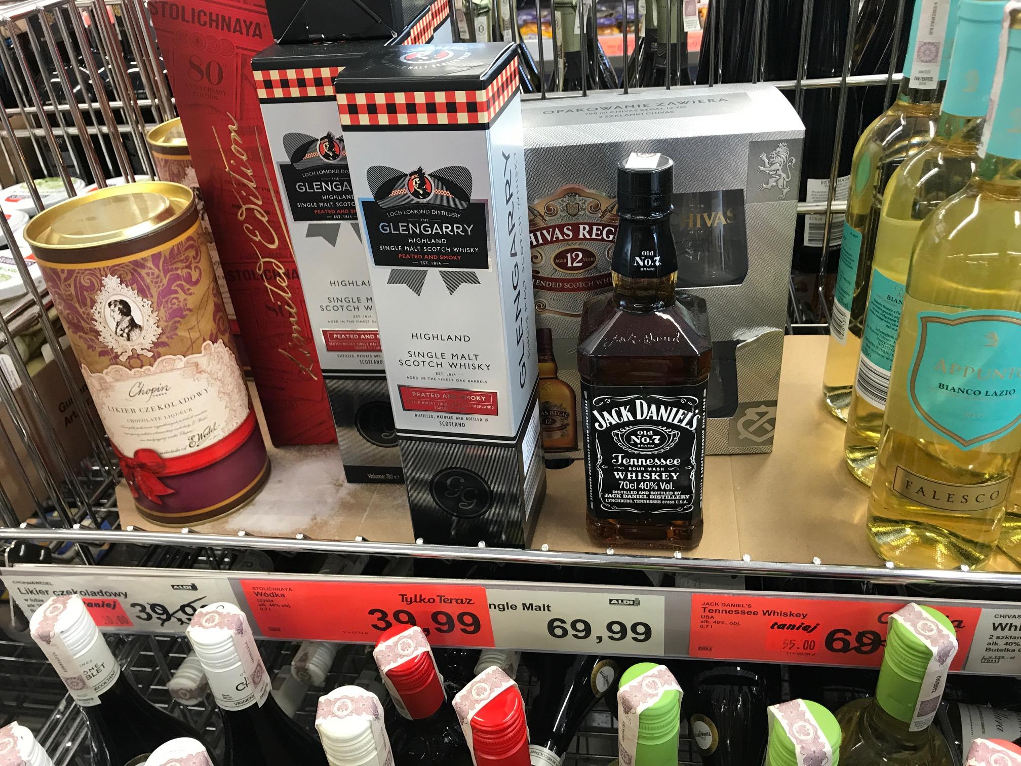 Aldi Jaworzno Jack Daniels 0,7l