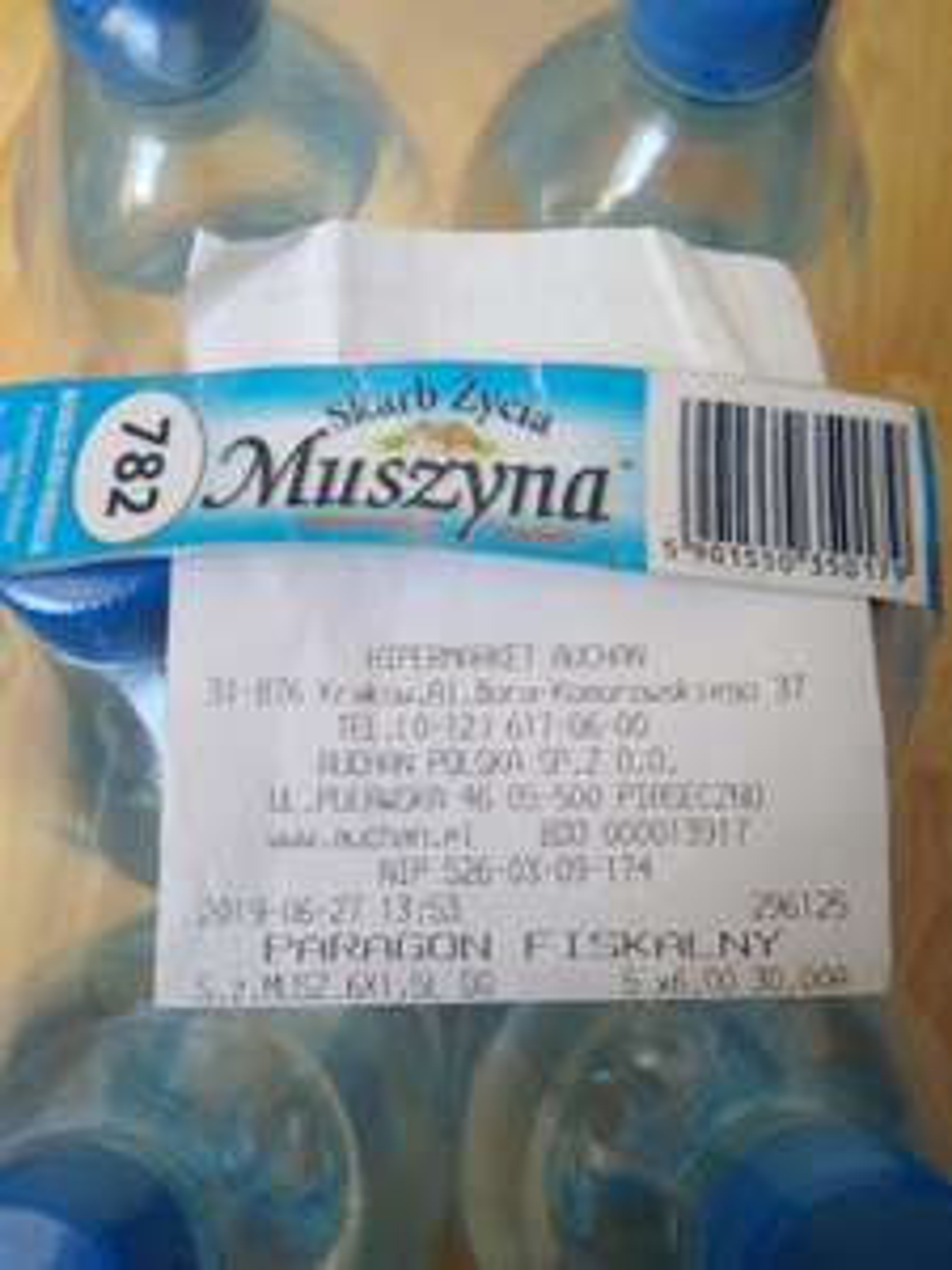 Woda mineralna Muszyna - Auchan Kraków CH Krokus