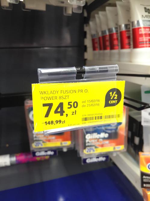 Gillette Fusion 8szt za 74.50 @Tesco