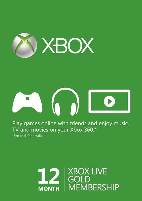 Xbox Live Gold na 12 m-cy za 195 zł na cdkeys