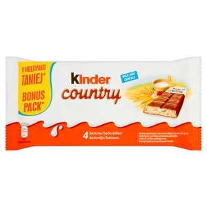 Kinder Country Tesco 63% taniej