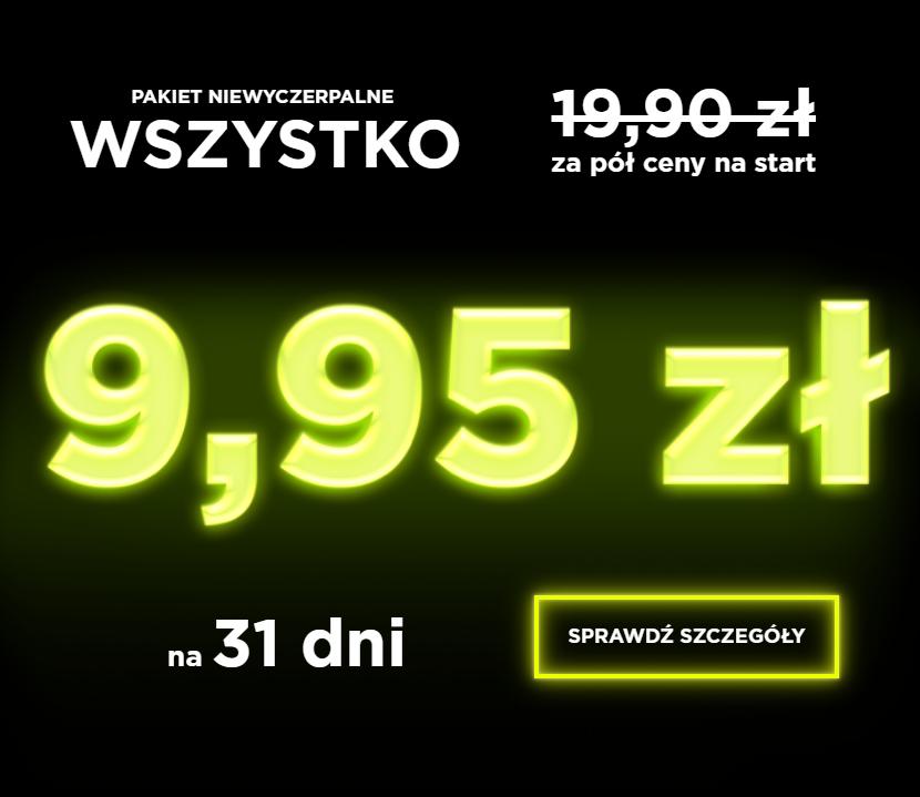 Pakiet a2mobile no-limit (31 dni) za 50% ceny na start