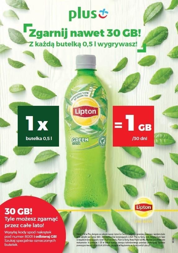 1 Gigabajt od PLUS-a za kody z nakrętek Lipton Ice Tea