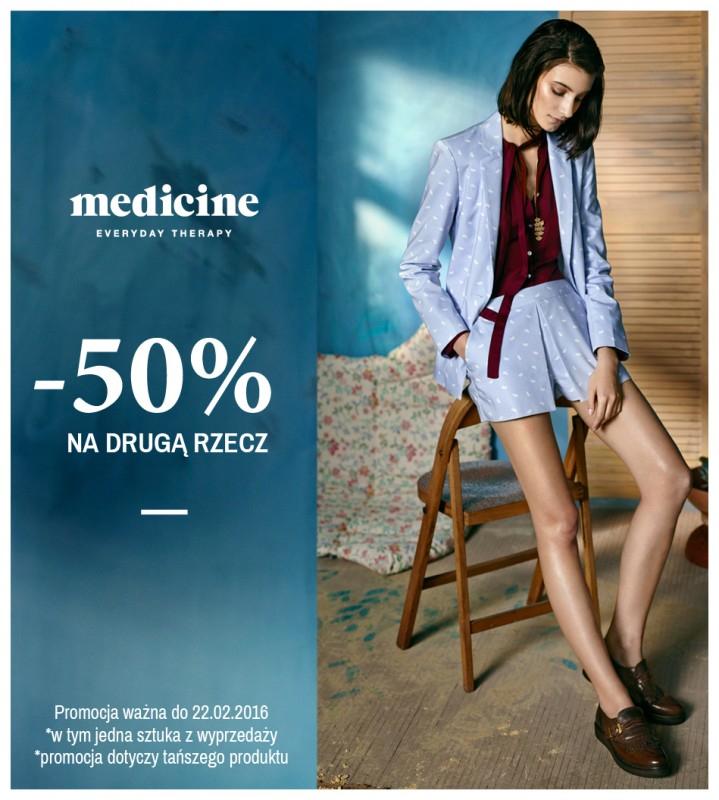 -50% na drugą rzecz @ Medicine