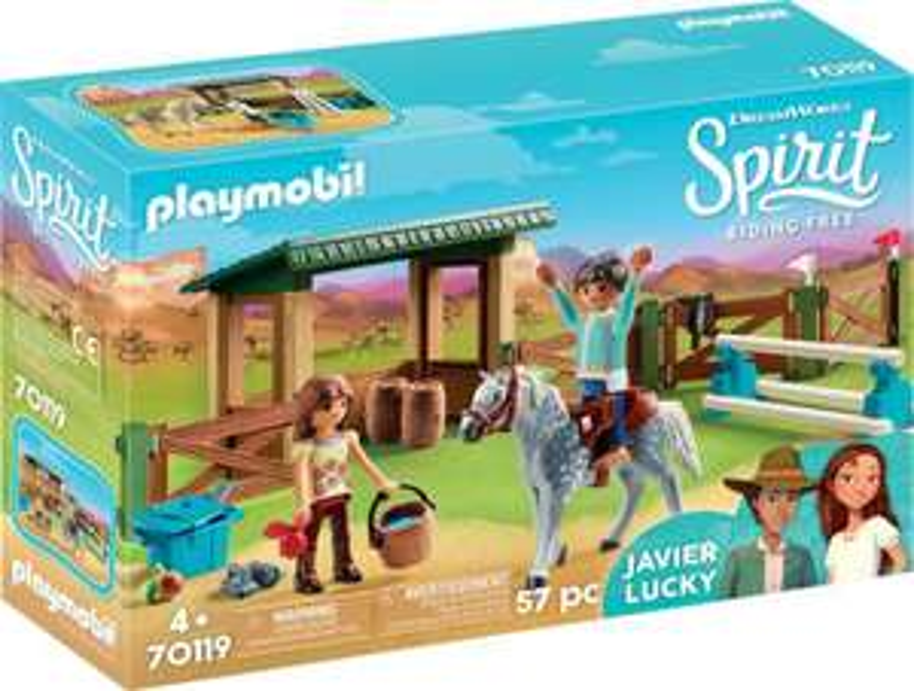 Playmobil Wybieg z Lucky i Javier oraz inne zabawki Playmobil, czołg z COBI i jeden NERF w najniższej cenie, odbiór w netpunkcie 0 zł