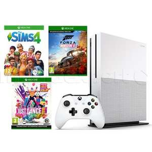 Konsola MICROSOFT Xbox One S 1TB + Forza Horizon 4 + Just Dance 2019 + The Sims 4