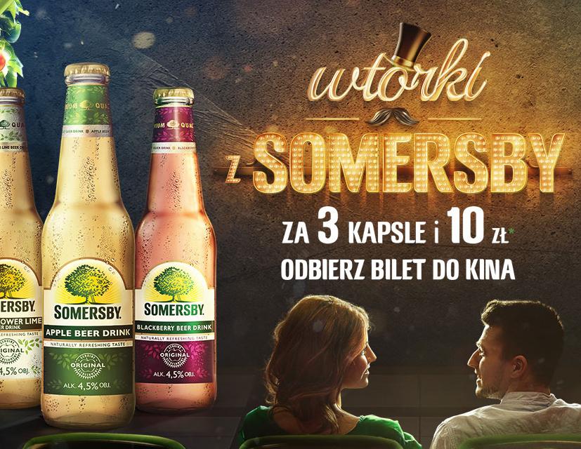 3 kapsle z Somersby = bilet we wtorek za 10zł @ Multikino