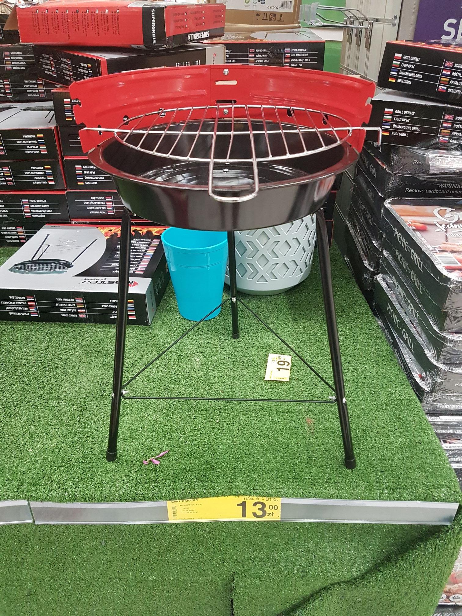 Grill okrągły w Carrefour