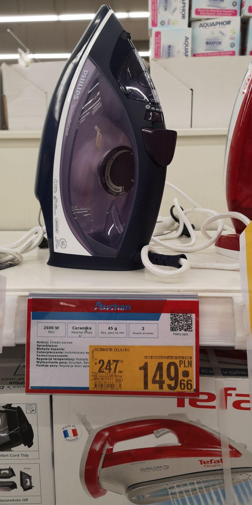 Żelazko Philips SmoothCare GC3584/30, 2600W - Auchan Kraków