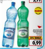 Woda mineralna Staropolanka 2000 (1,5L) za 99 groszy @ Kaufland