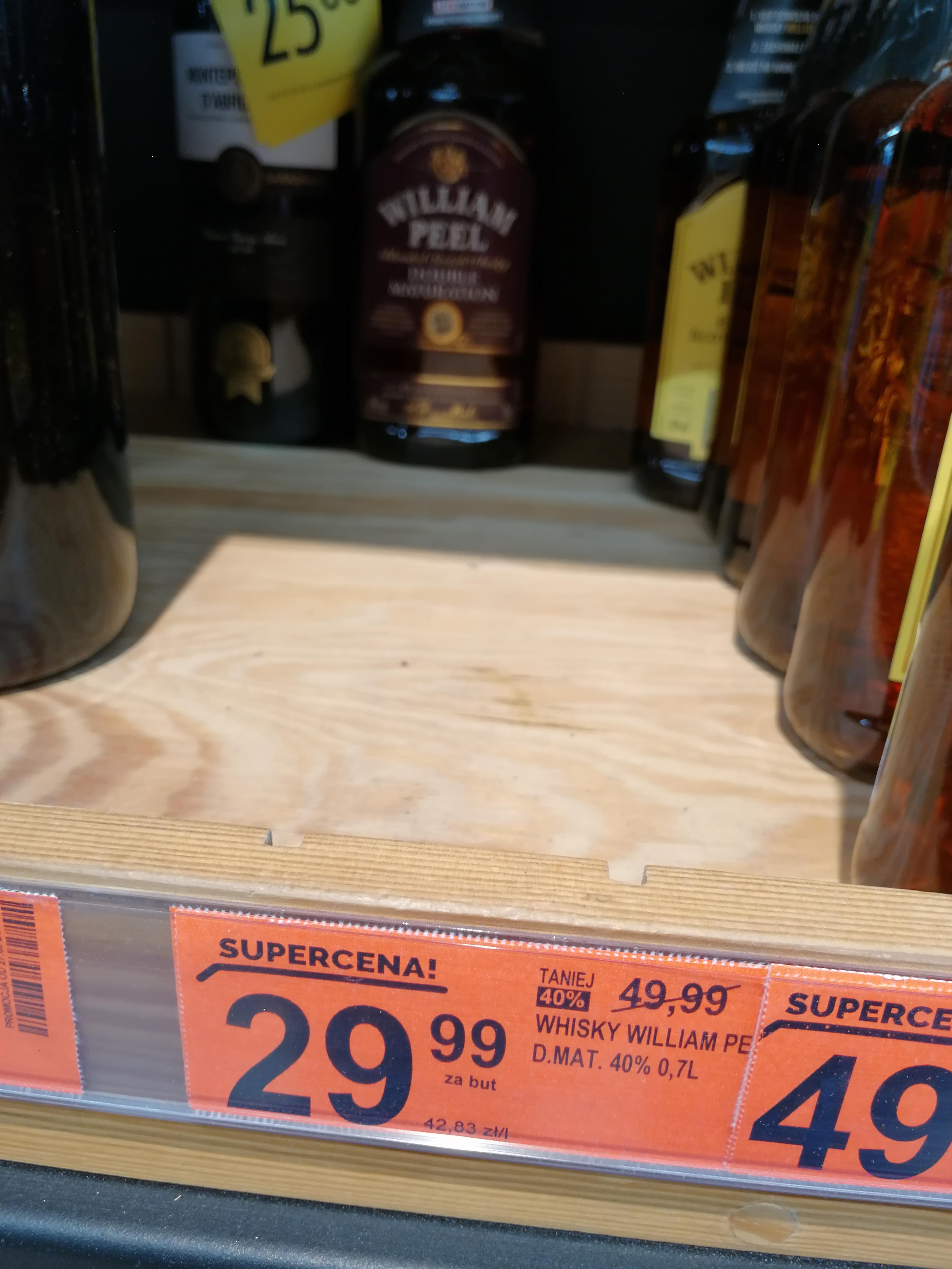 William peel double 0,7 w cenie wódki, biedronka, Poznań
