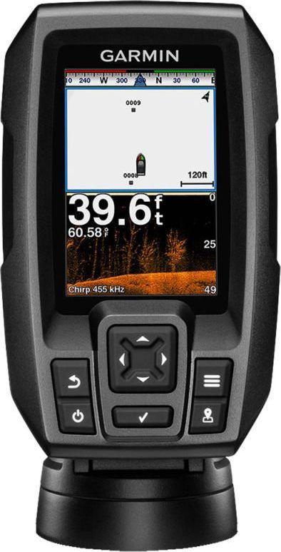 """Echosonda z GPS Garmin Striker 4DV (010-01551-01), 3,5"""", z sonarem skanującym (a model Plus 4cv z batymetrią za 850 zł/cena reg. 1080zł)"""