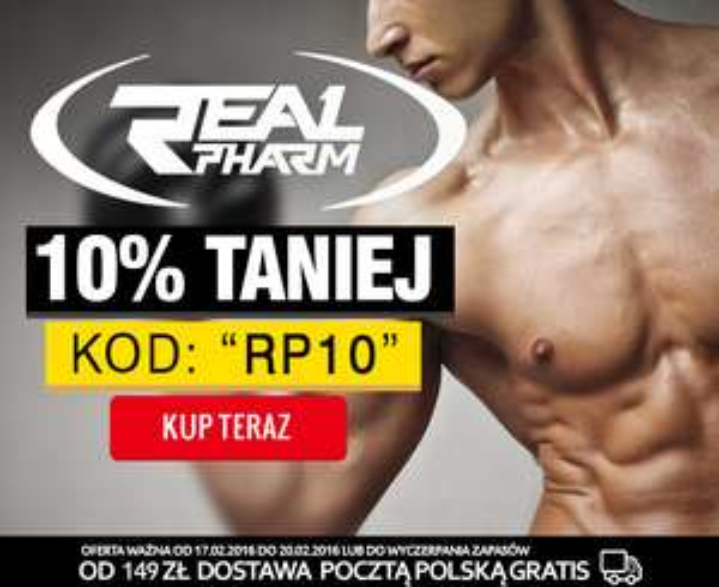 10% zniżki na wszystkie produkty Real Pharm!