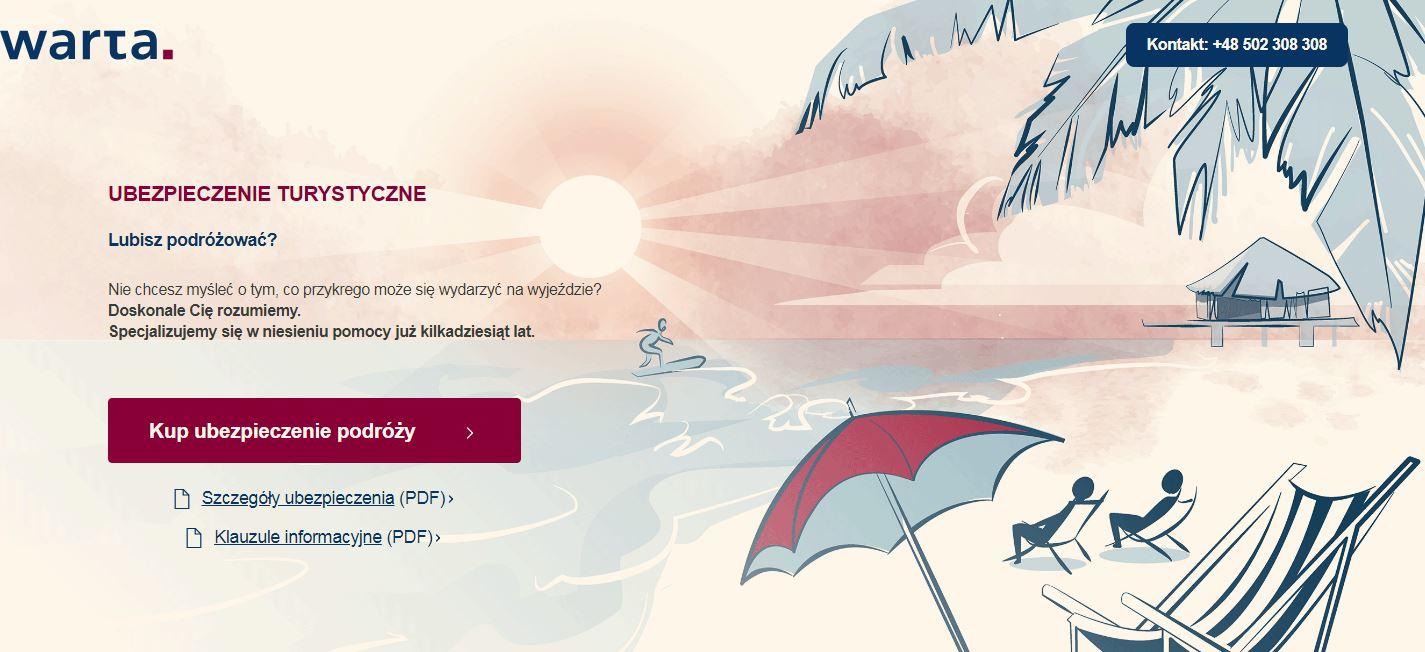 Zniżka na ubezpieczenie podróżne / turystyczne Warta Travel z kodem rabatowym