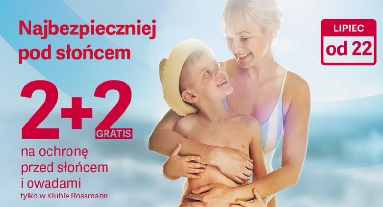 Rossmann 2+2 gratis na ochronę przed słońcem i owadami w Klubie od 22.07.19