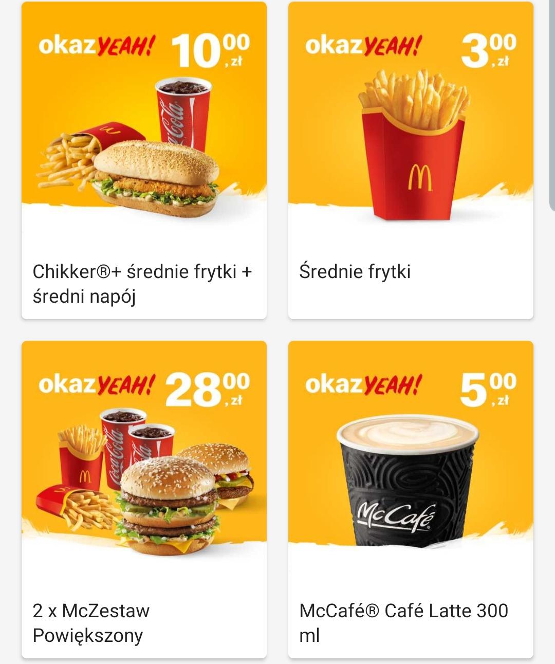 Powrót średnich frytek za 3zł w McDonald's