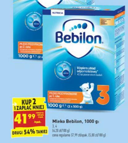 Mleko Bebilon 1000g za 41,99zł (przy zakupie dwóch) @ Biedronka