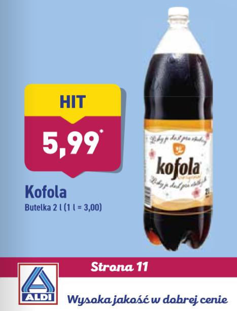 Napój bogów Kofola w Aldi za 5,99 zł!