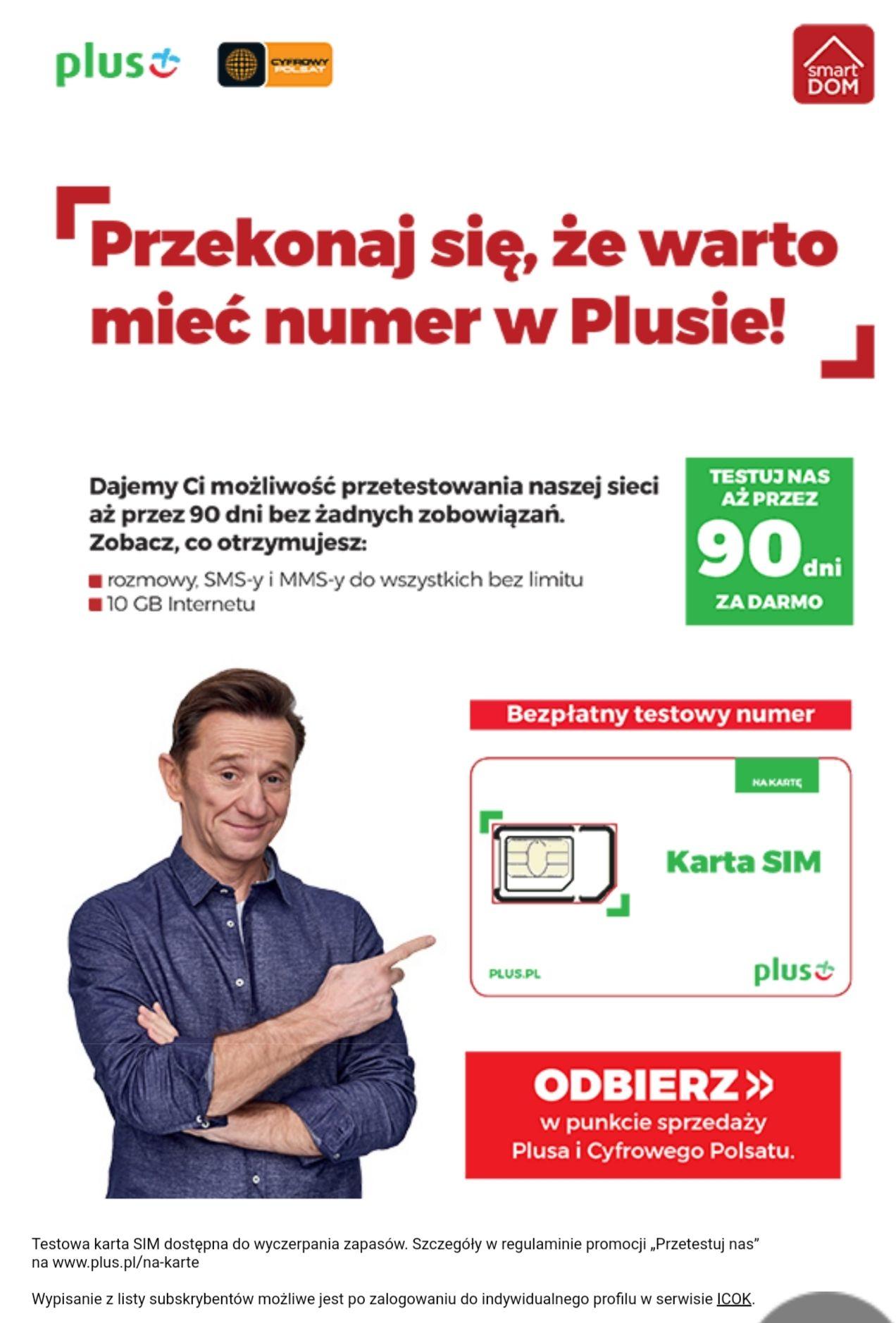 Plus - Bezpłatny numer na 90dni