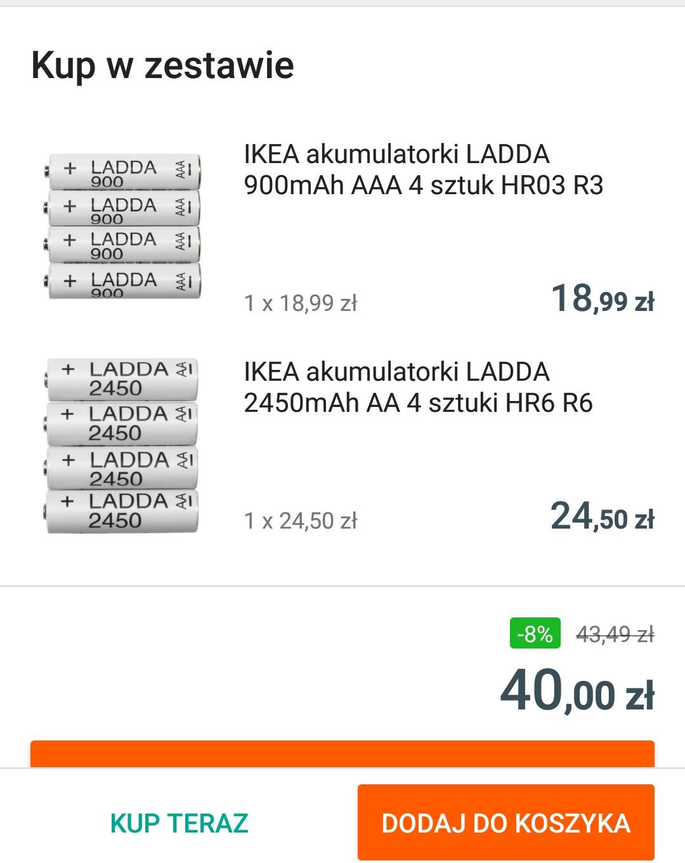 Akumulatorki Ladda 2450 AA + Ladda  900 AAA za 40 PLN w zestawie