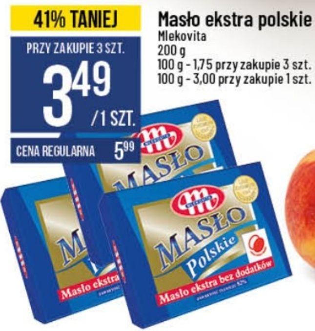 3x masło ekstra polskie Mlekovita 82% (3,49 zł za 1) @ POLOmarket