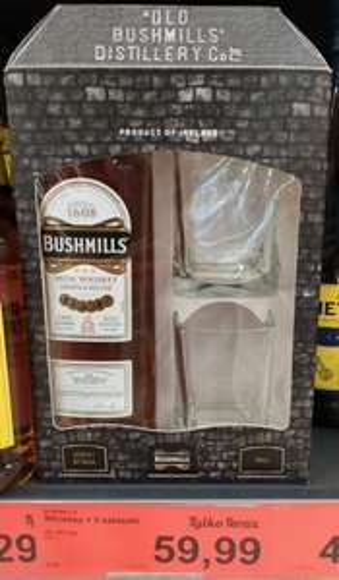 Whiskey Bushmills 0,7 l + 2 szklanki Aldi