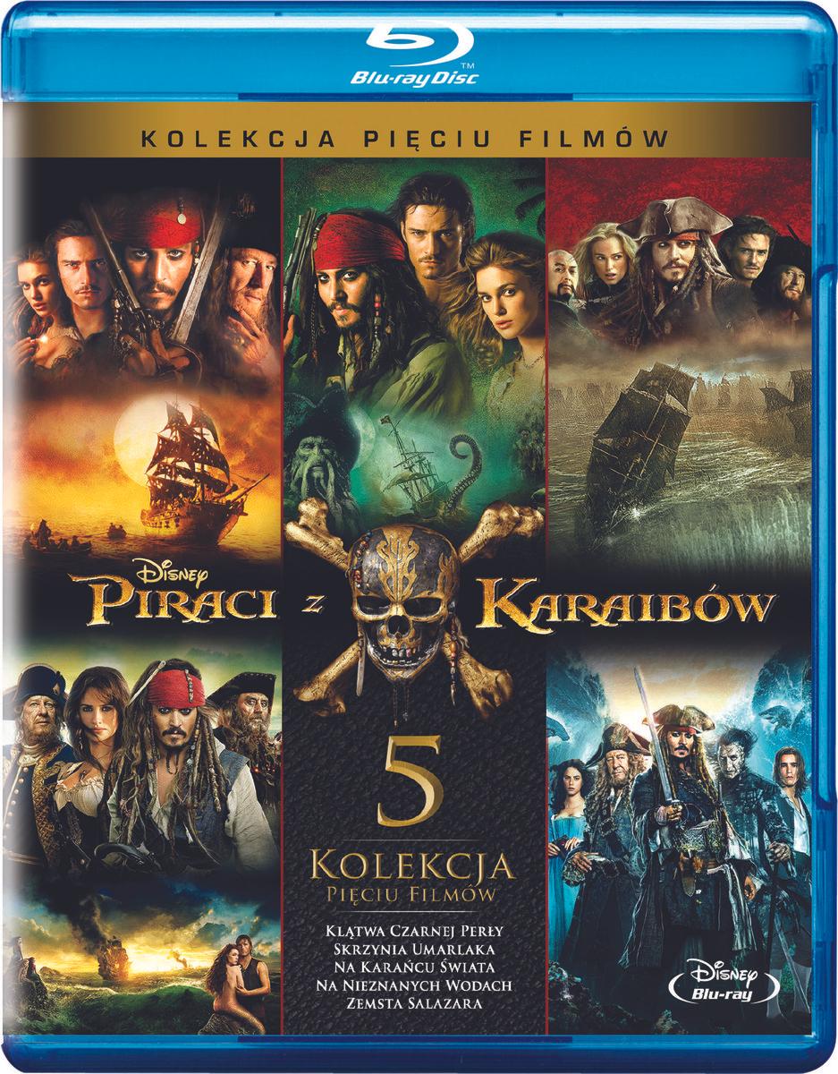 Piraci Z Karaibów - Pakiet 5 Filmów Blu-ray 25zł/Film