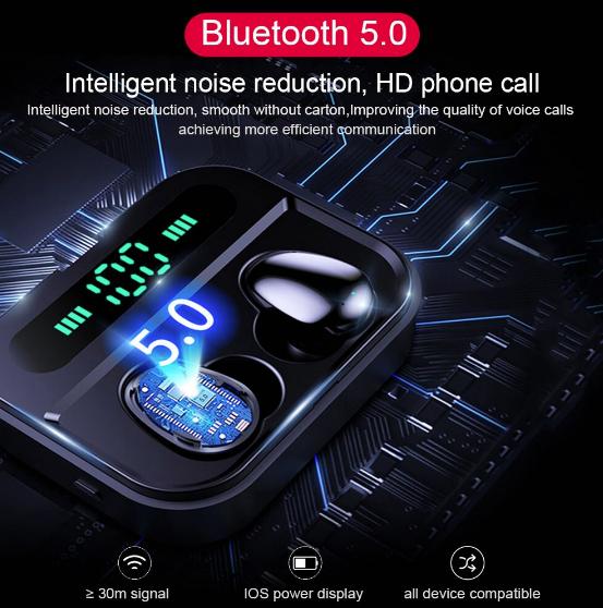 Mobilne słuchawki BT 5.0 z powerbankiem za 18.65$