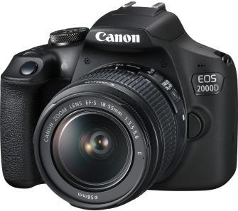 Canon 2000D + obiektyw 18-55 + torba + karta SD