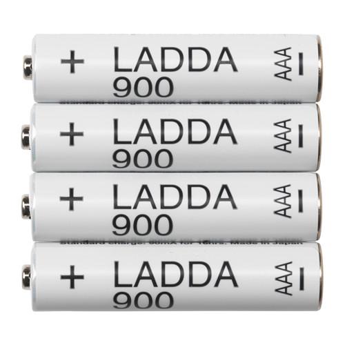 Akumulatorki LADDA 900 AAA 4 sztuki, przy zakupie 3 opakowań (12sztuk) ze Smart 44,70zł