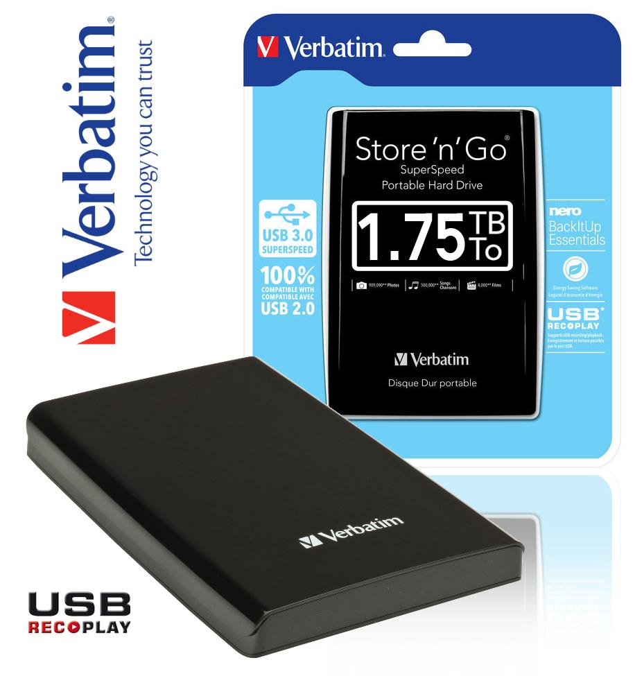 Verbatim Store'n' Go 1,75TB auchan