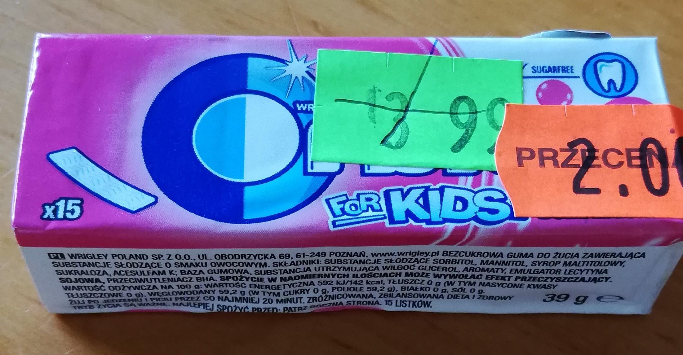 Wrigley's Orbit for kids - guma do żucia bez cukru