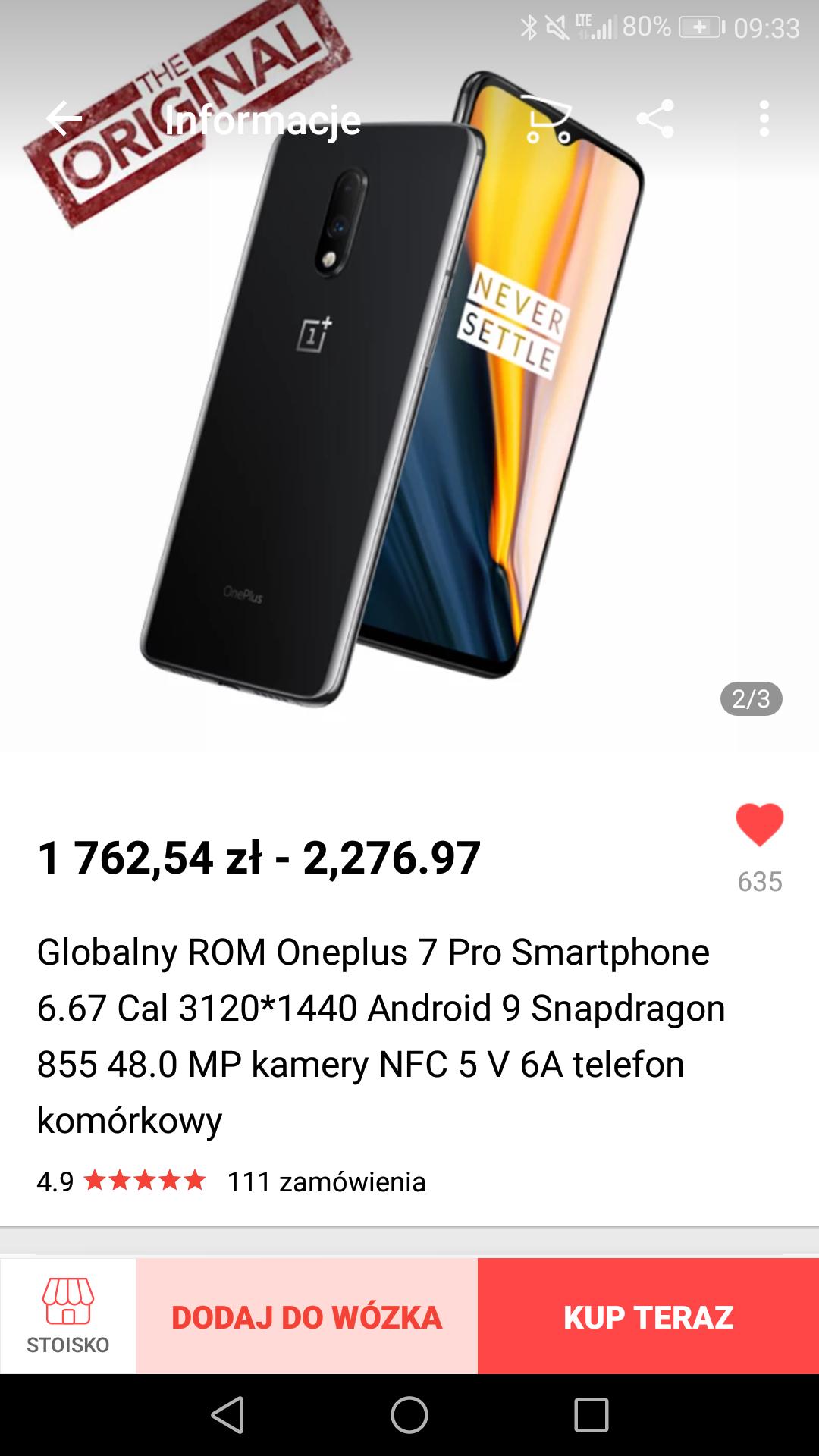 OnePlus 7 8/128 Grey z AliExpress z darmową dostawą