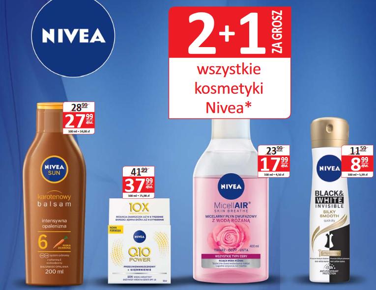 2+1 na kosmetyki Nivea (np.pianka do golenia 200ml za 3,66zł przy zakupie 3szt.) @ Natura