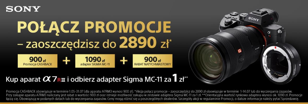 Sony A7RIII + Sigma MC-11 w super cenie