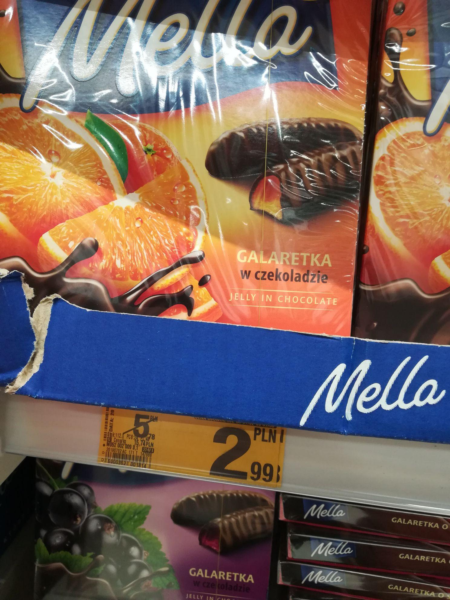 Mella. Galaretka w czekoladzie. Pomarańczowa.