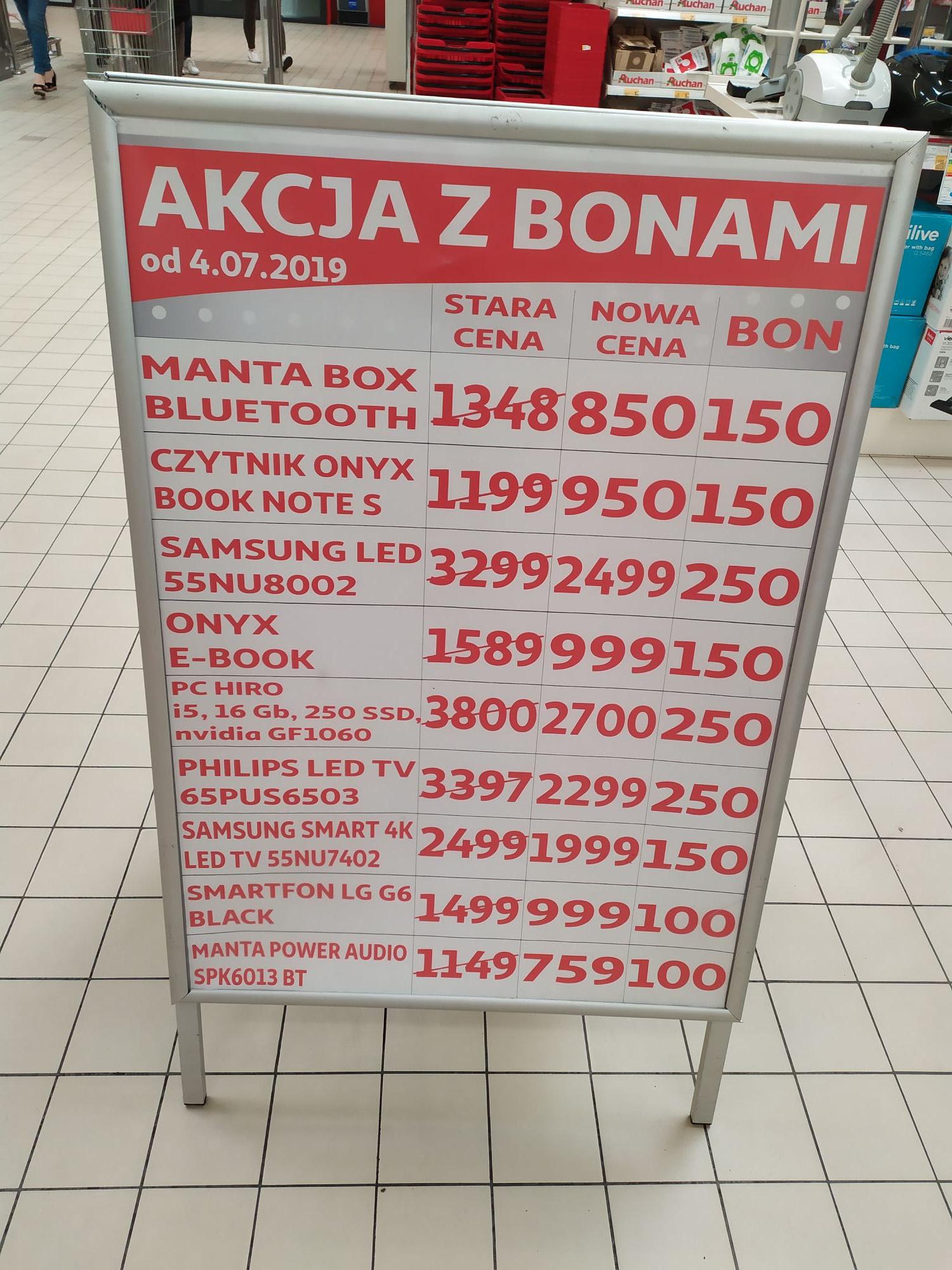 Wyprzedaż + akcja z bonami Auchan Warszawa Jubilerska