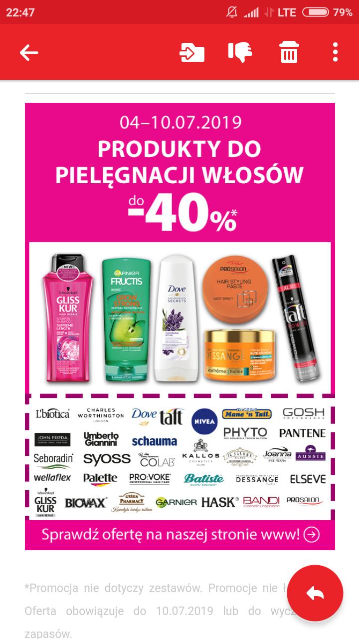 -40% na pielęgnację włosów w hebe