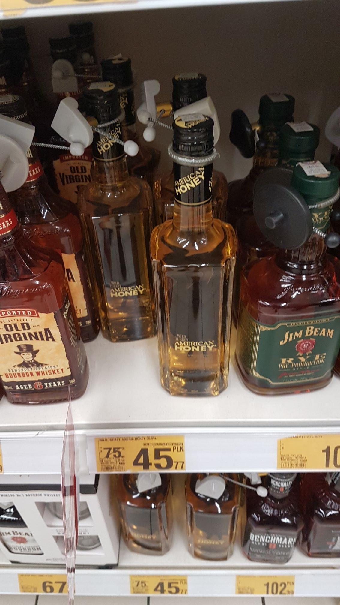 Wild Turkey American Honey 0.7l, Auchan Krokus Kraków