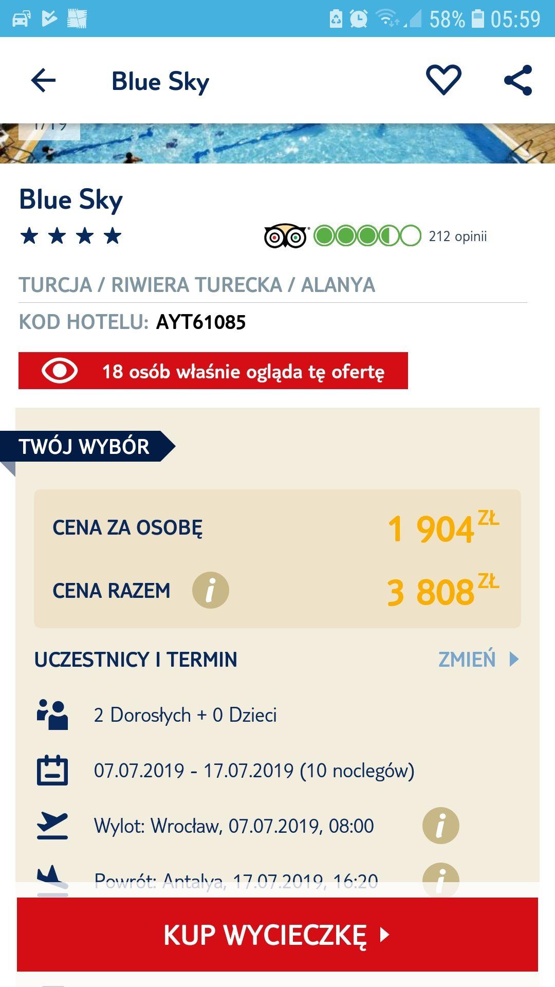 Last Minute, Turcja, Alanya, wylot WROCŁAW, all inclusive 11dni / 1904zl lub 12dni/1946zl osoba