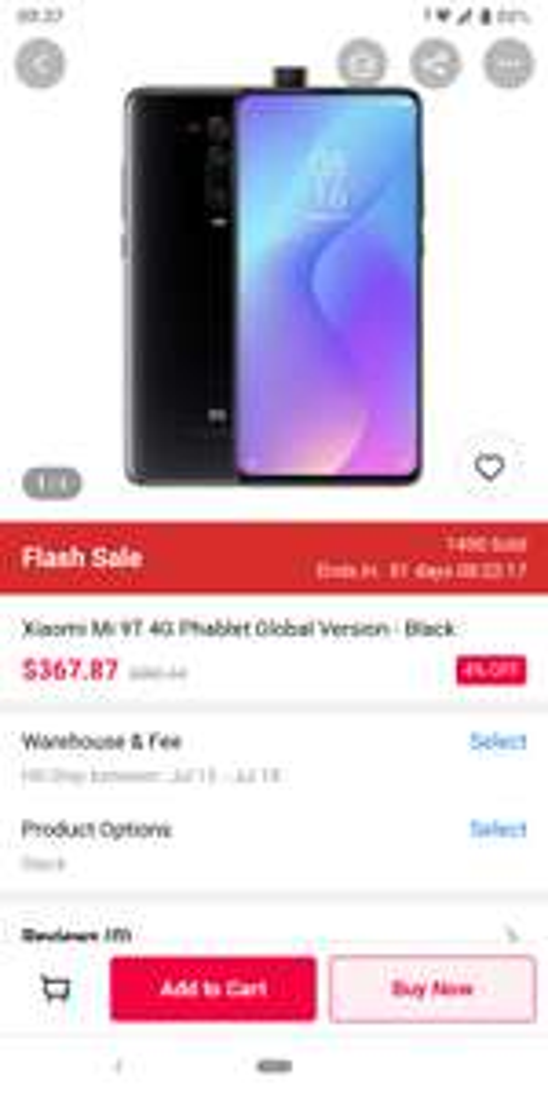 Smartfon Xiaomi Mi 9T (Redmi K20) 6/64 SD730