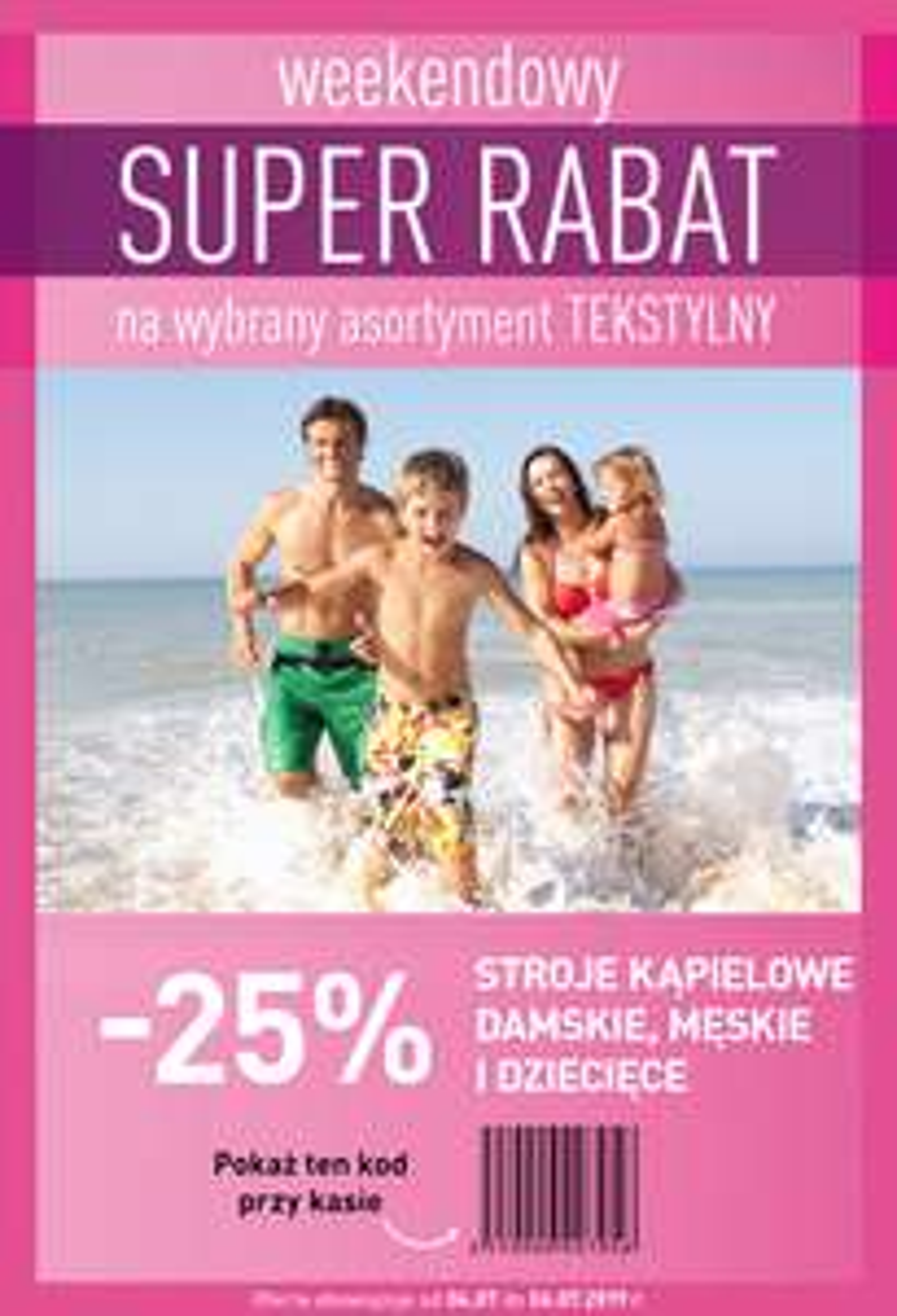 -25% na stroje kąpielowe (damskie, męskie i dziecięce) @ Carrefour