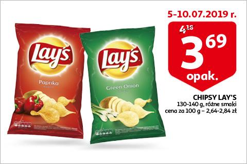 Chipsy LAY'S 130-140g AUCHAN