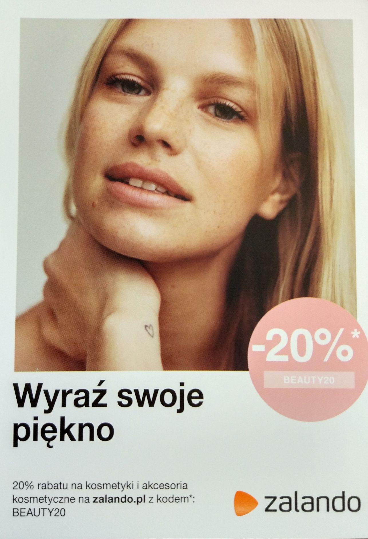 20% rabatu na kosmetyki i akcesoria kosmetyczne w Zalando (działa również na już przecenione)